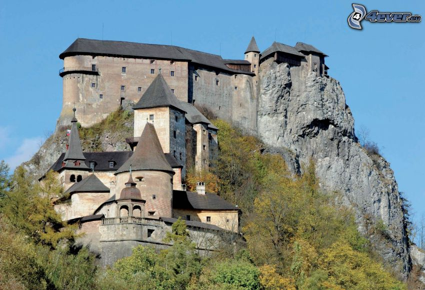 Orava Castle, rock