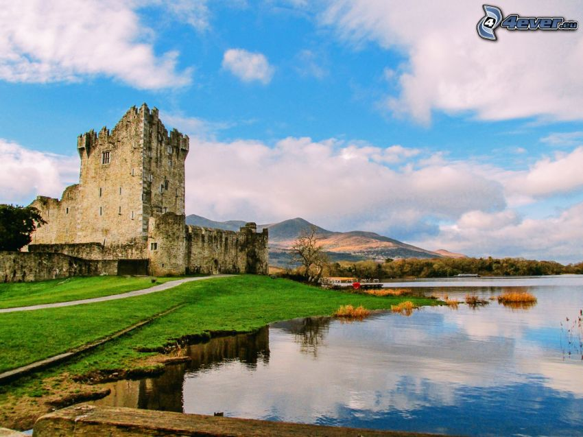 Ross Castle, lake