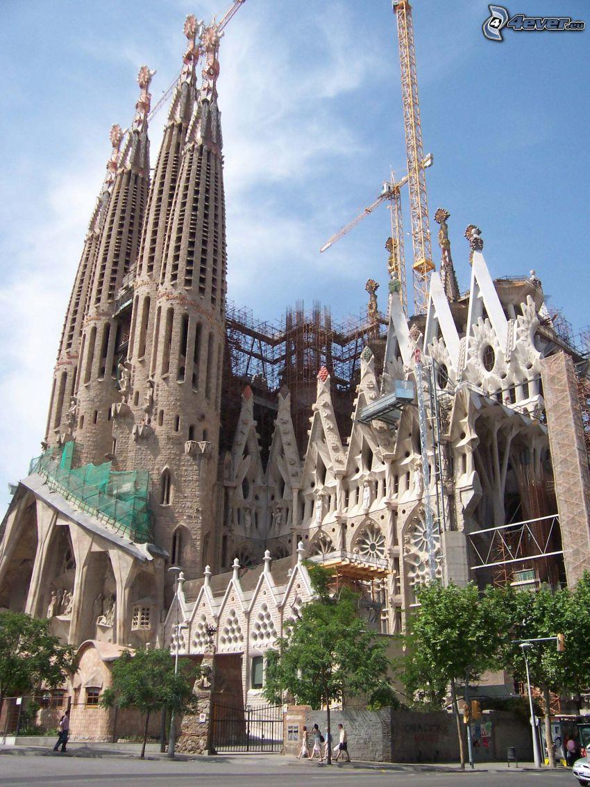Sagrada Familia, crane