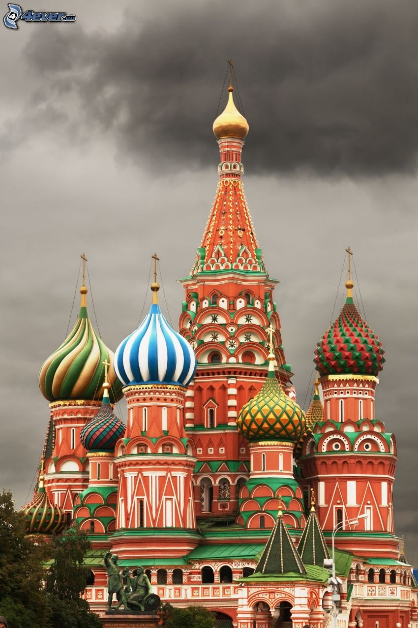 Saint Basil's Cathedral, dark sky