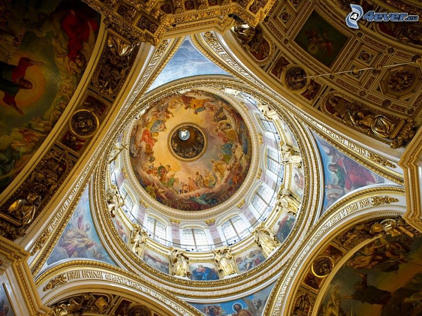 Saint Isaac's Cathedral, interior, ceiling