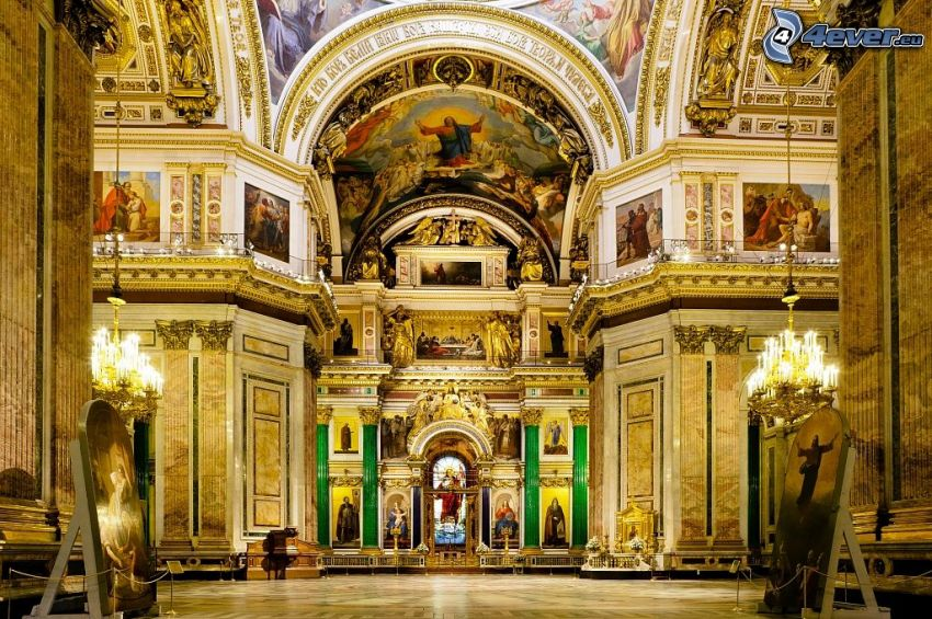 Saint Isaac's Cathedral, interior, vault