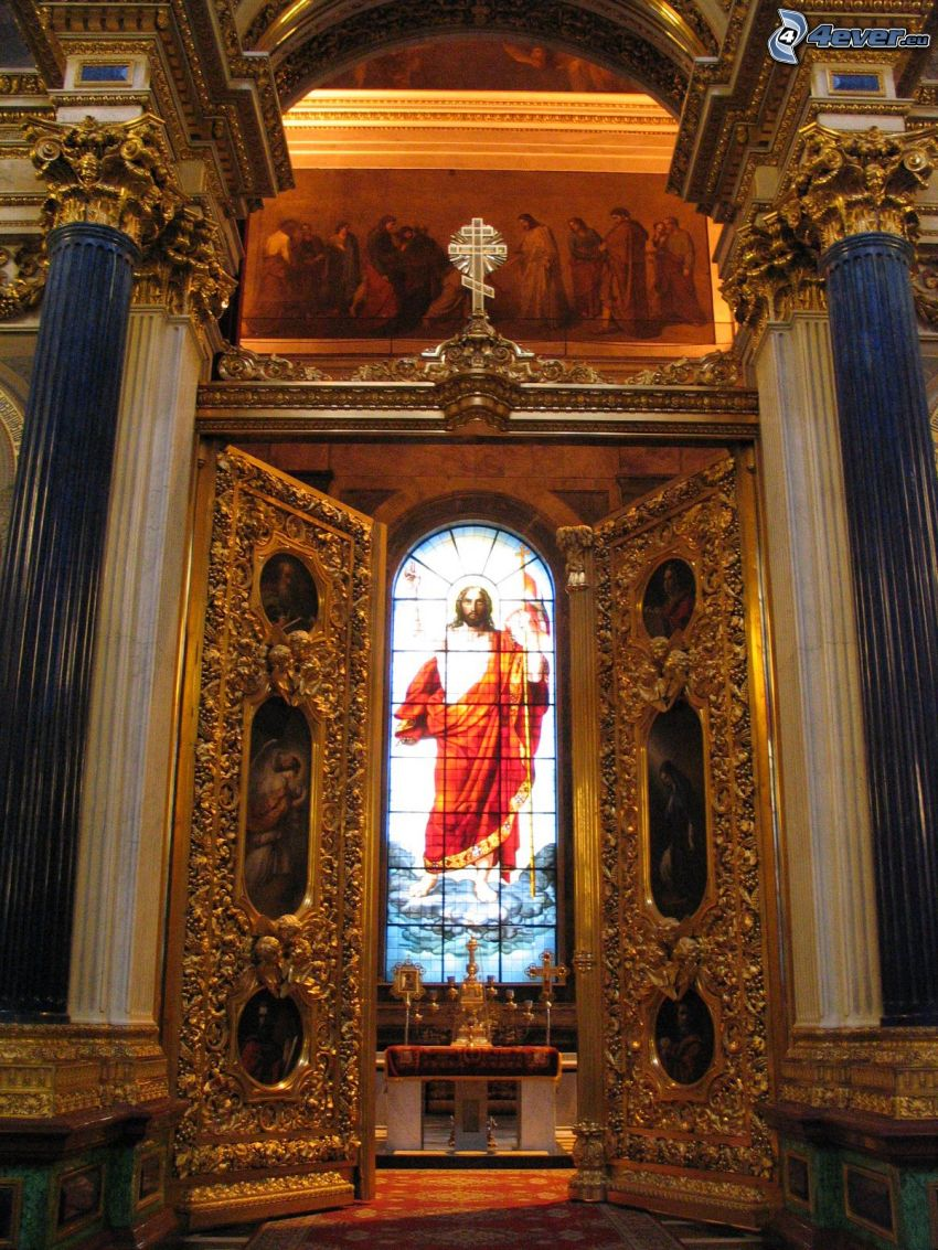 Saint Isaac's Cathedral, Jesus, window