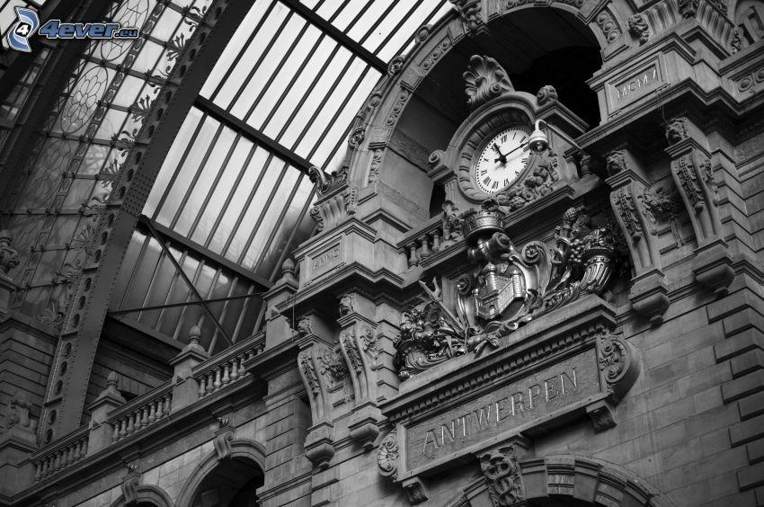 station, clock