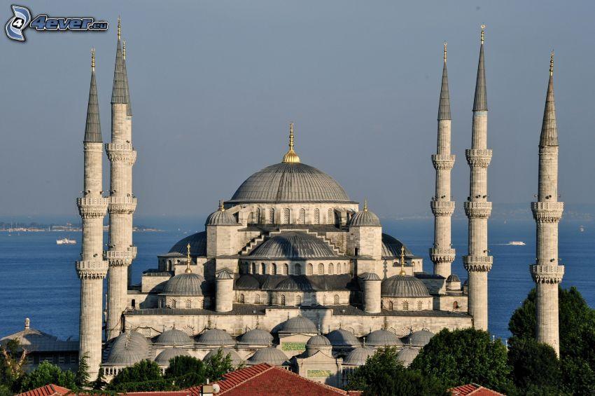 The Blue Mosque, open sea