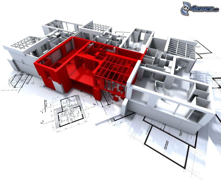 house, miniature, ground plan