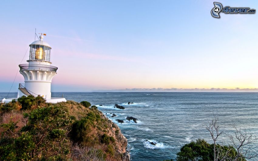 lighthouse, the view of the sea