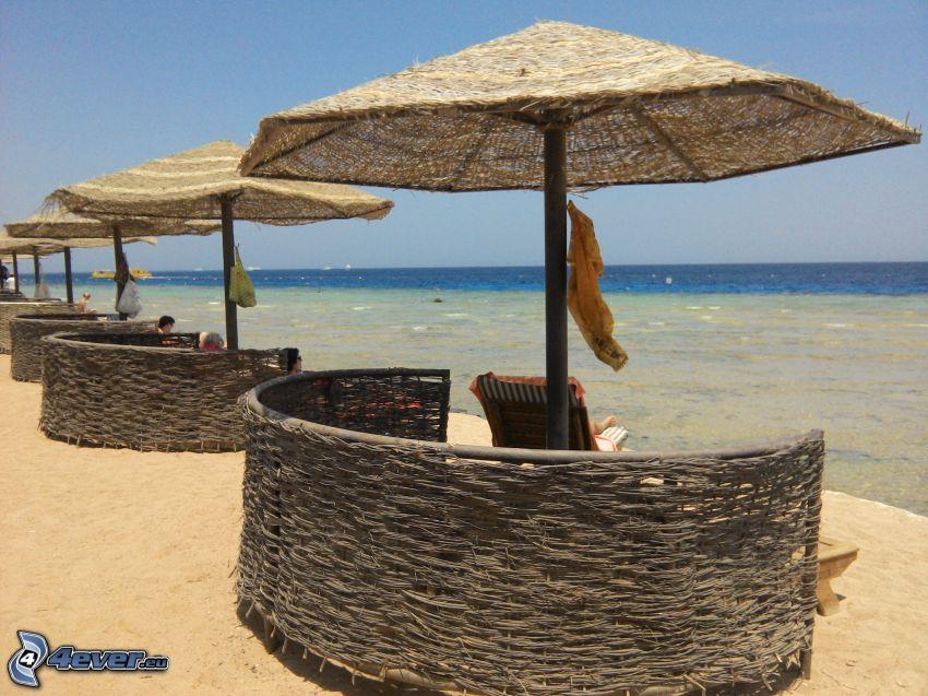 lounger, sea, coast