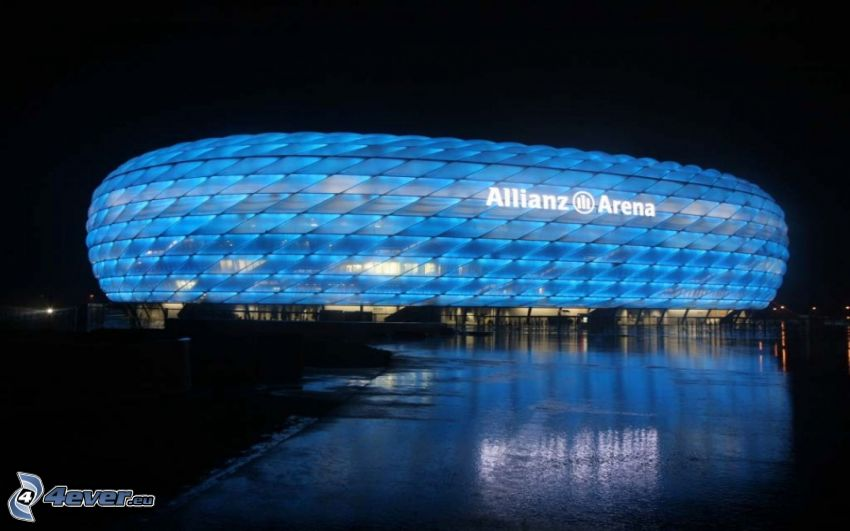 Allianz Arena, stadium, night
