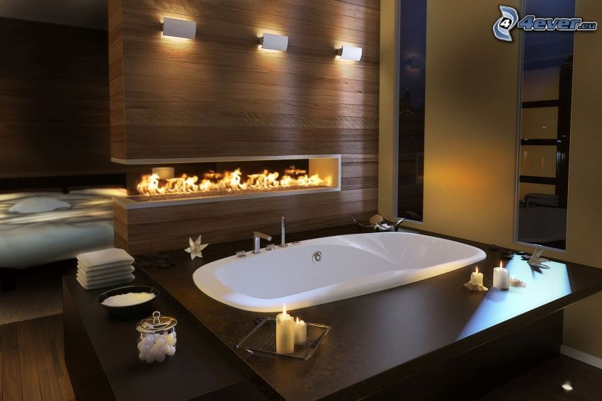 bathroom, bath