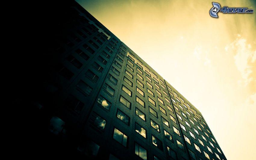 block of flats, building, windows