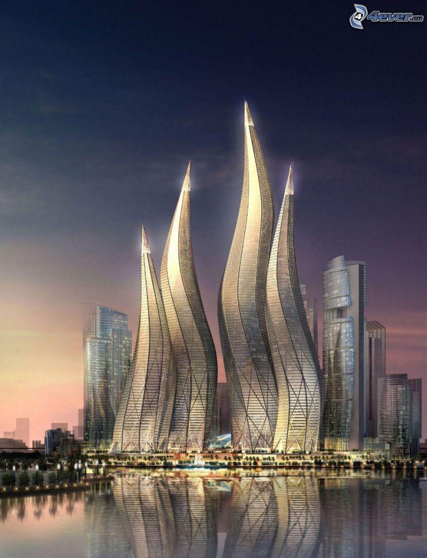 Dynamic tower, skyscraper, Dubai