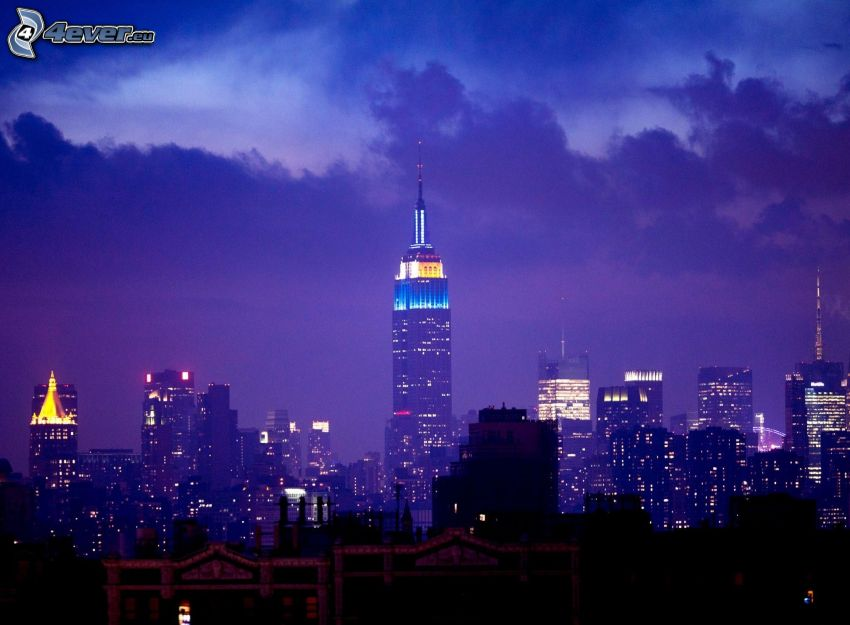Empire State Building, night in New York