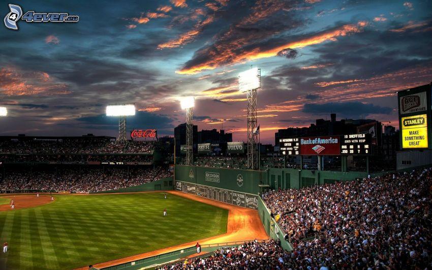 football stadium, fans, Boston