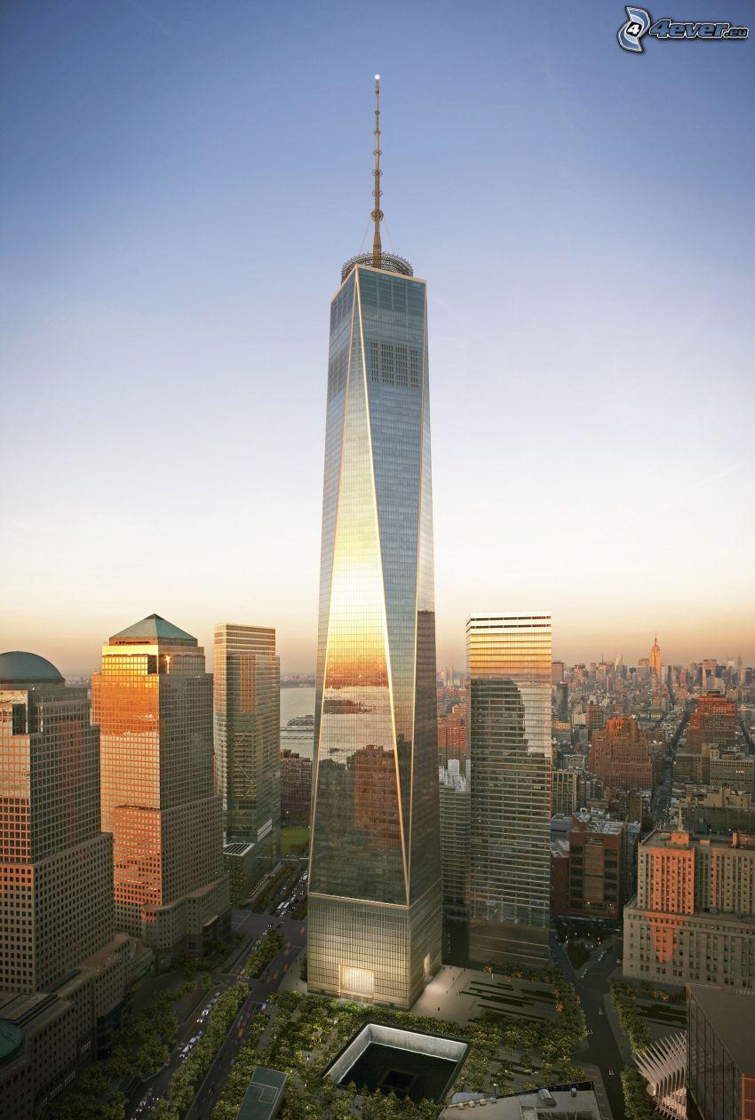 Freedom Tower, 1 WTC, New York, skyscraper