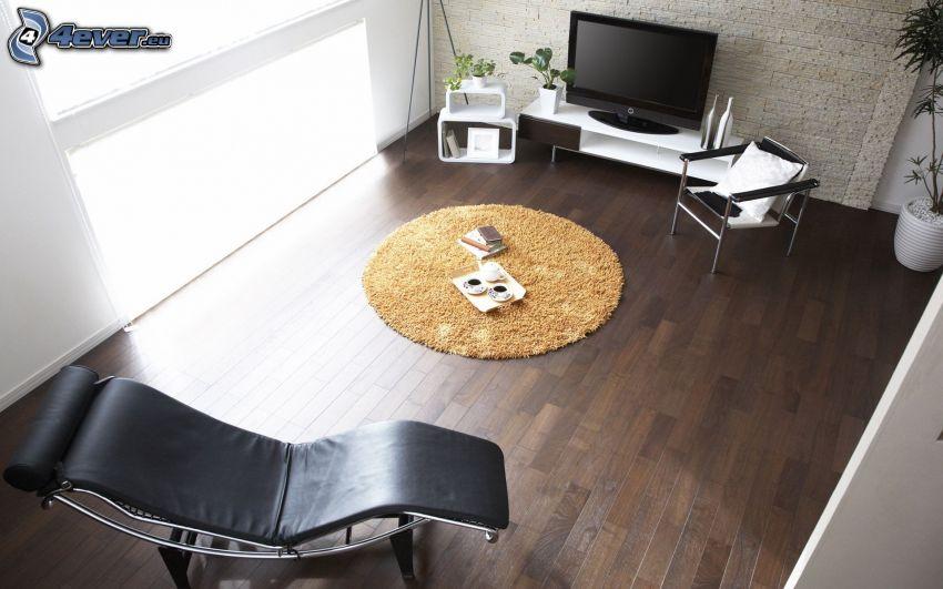 living room, television, sofa
