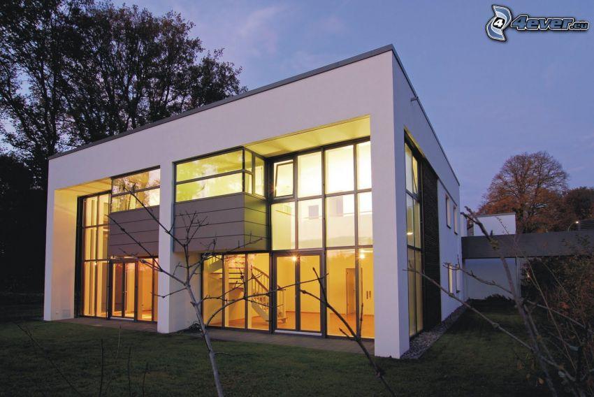 modern house, glass