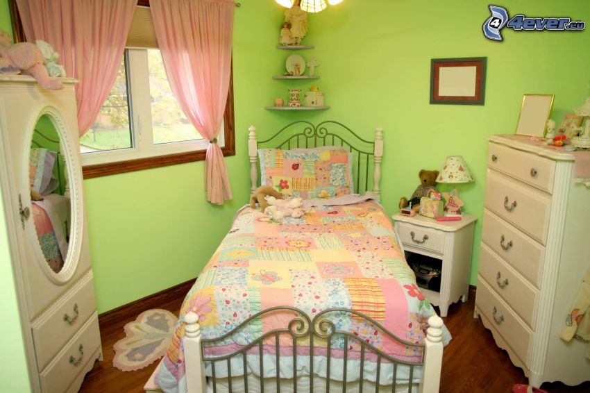 nursery, bed