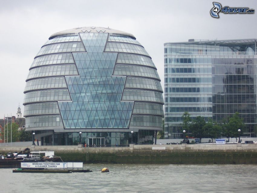 office building, London, Thames
