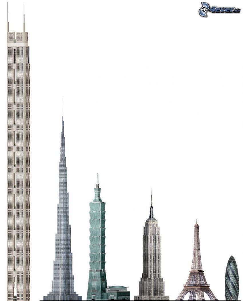 skyscrapers, comparison