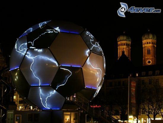 soccer ball, lightning, Munich