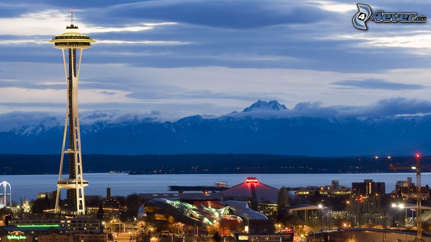 Space Needle, Seattle, mountain