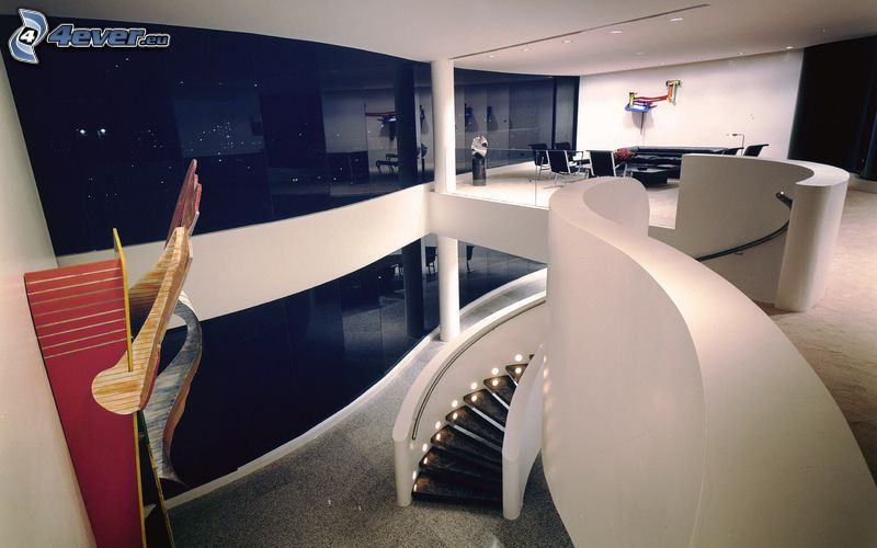 stairs, office