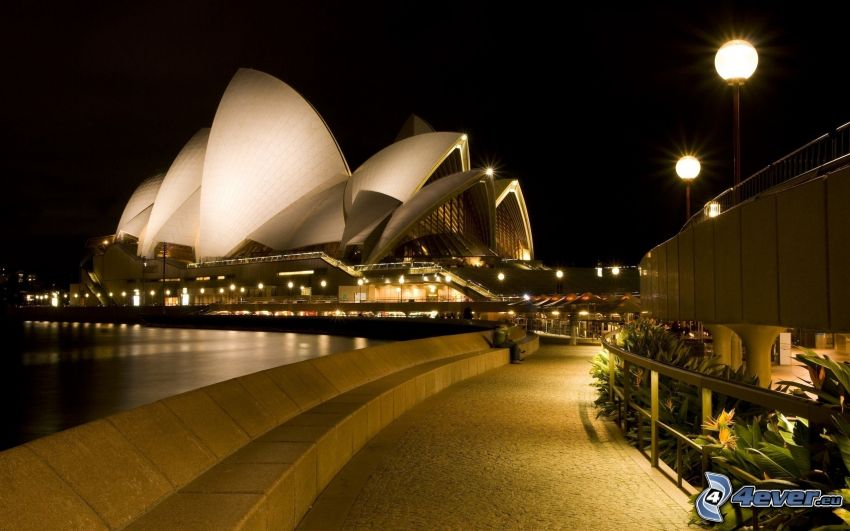 Sydney Opera House, night city