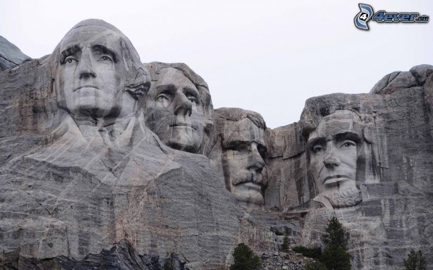 Mount Rushmore, memorial, heads of presidents, George Washington, Thomas Jefferson, Theodore Roosevelt, Abraham Lincoln