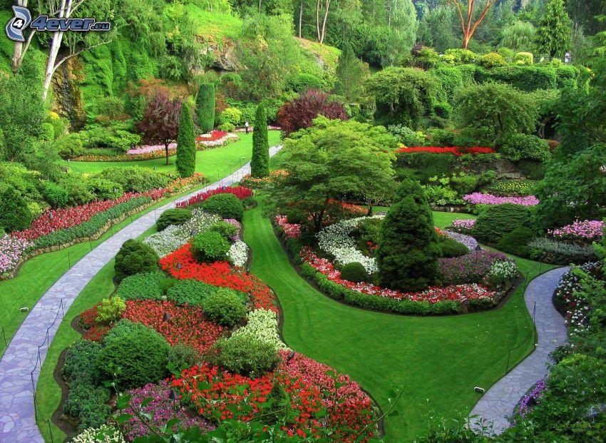 park, greenery, sidewalk