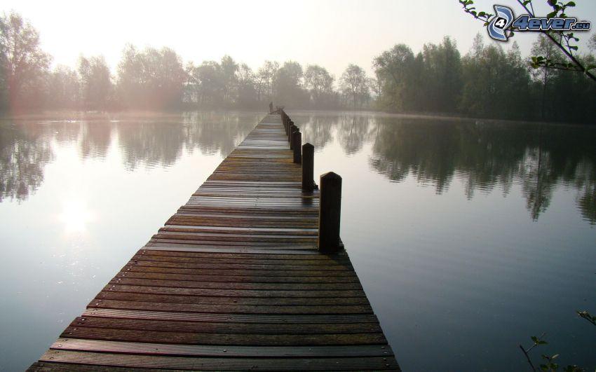 pier, lake