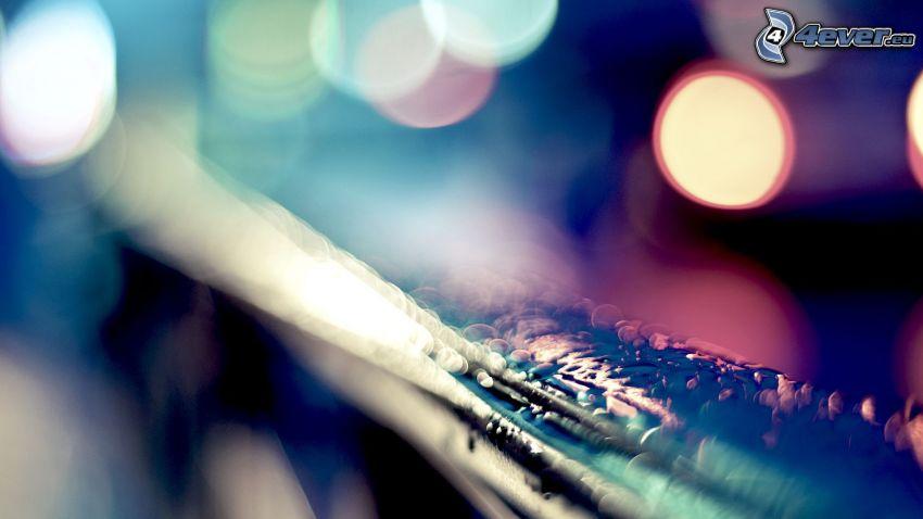 railing, drops, lights