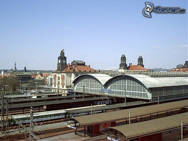 railway station, Prague, train