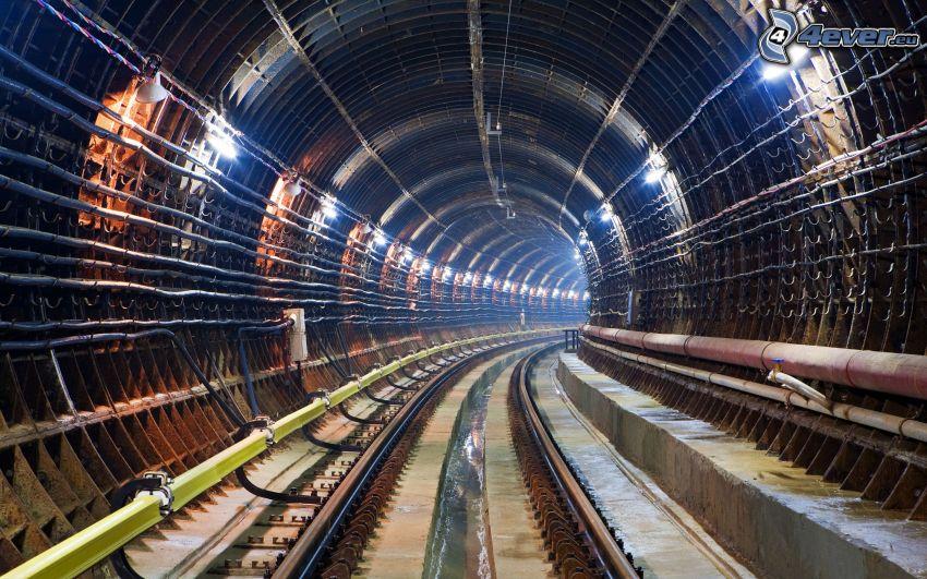 railway tunnel, railway
