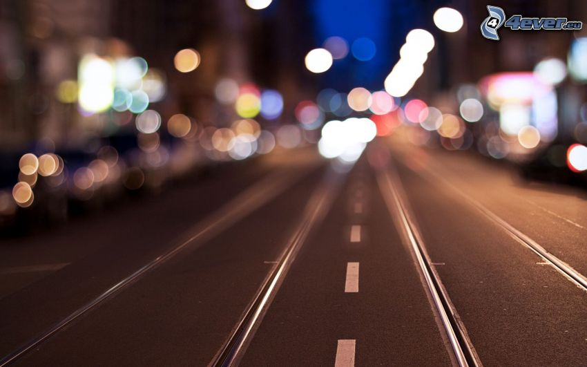 road, rail, lights