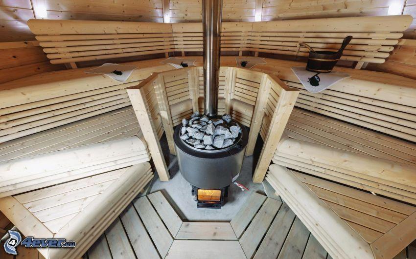 sauna, gravel