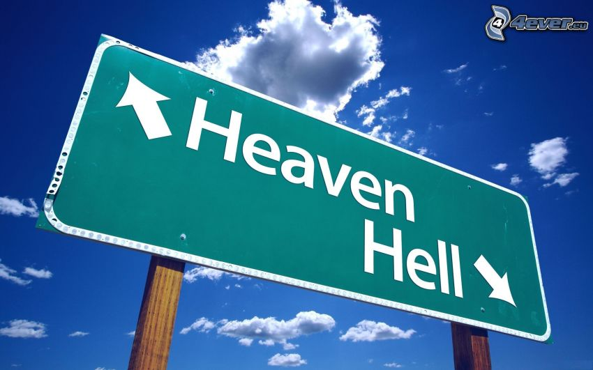sky, hell, sign, clouds