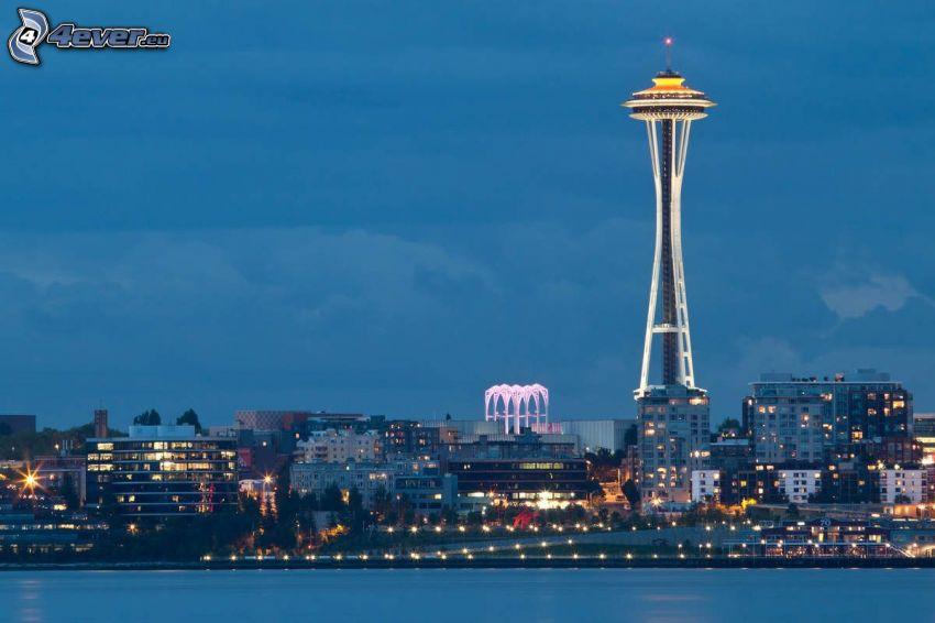 Space Needle, evening city