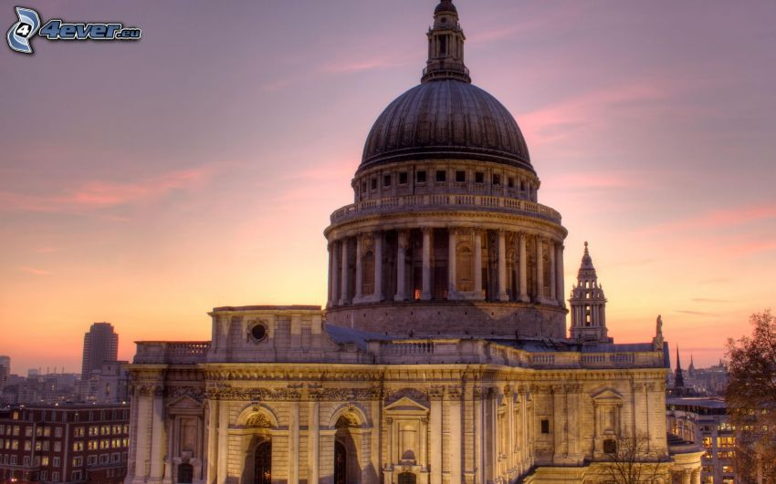 St Paul's Cathedral, London, England, sunset