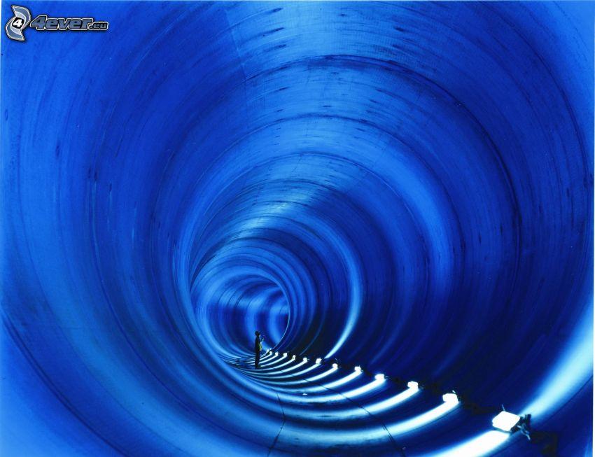 tunnel, lights