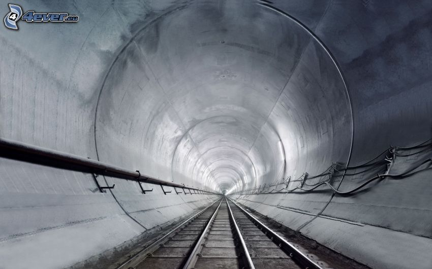 tunnel, subway, rails