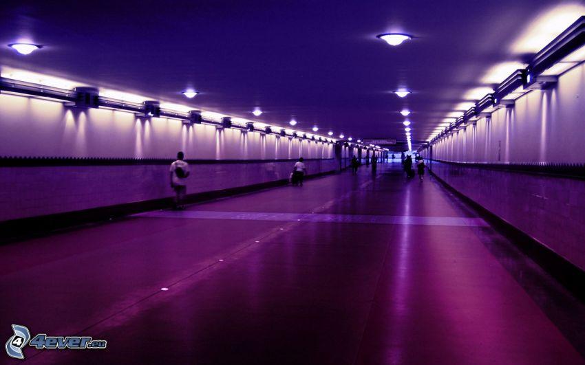 underpass, lights