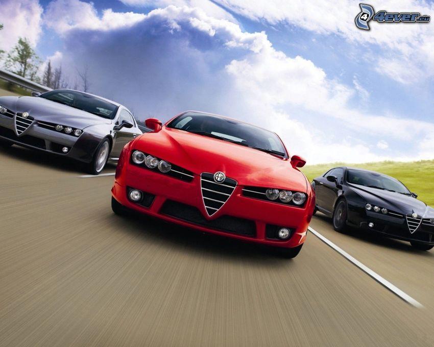 Alfa Romeo, road, speed
