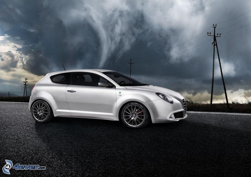Alfa Romeo MiTo, storm clouds