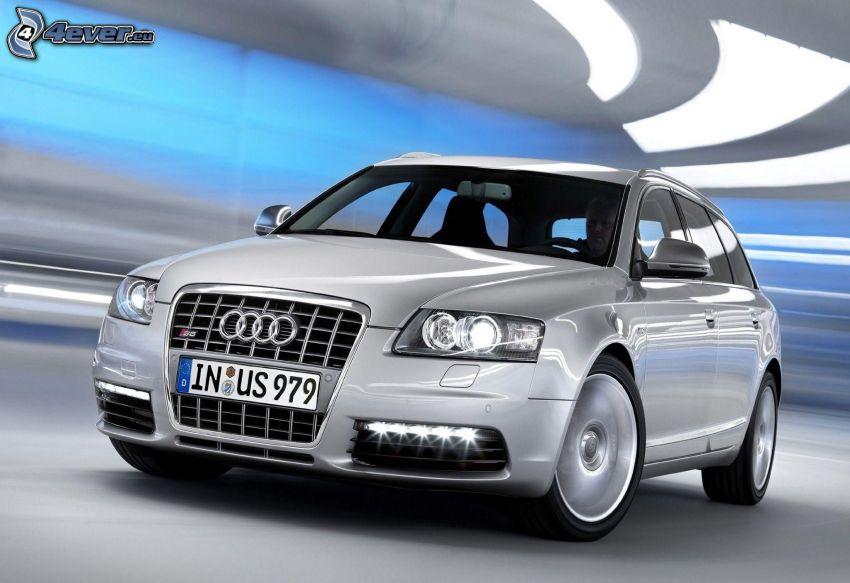 Audi, speed, tunnel