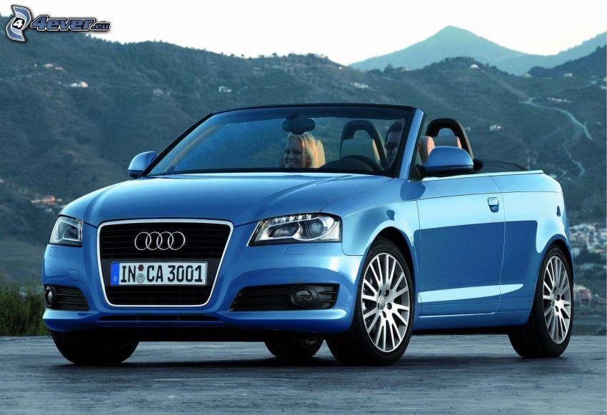Audi A3, convertible, hills