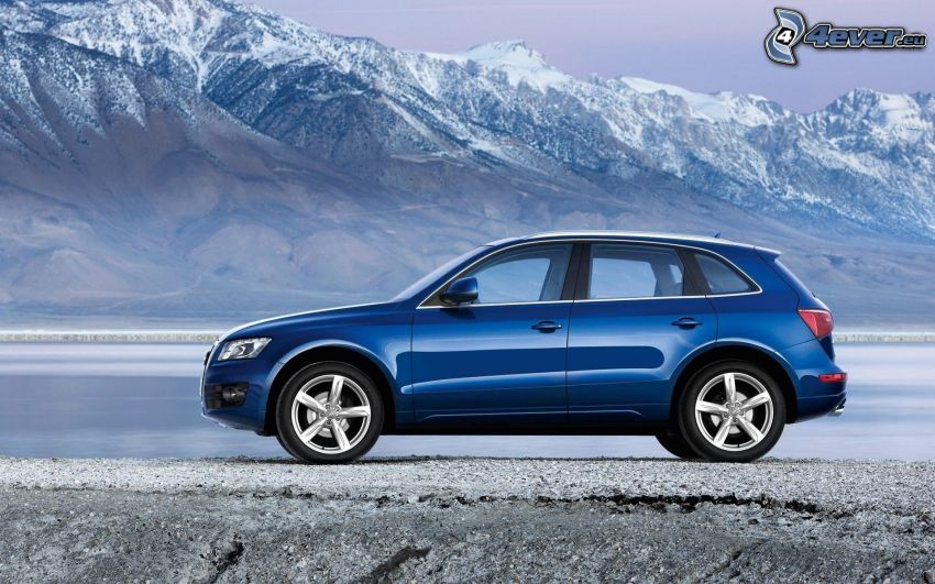 Audi Q5, snowy mountains