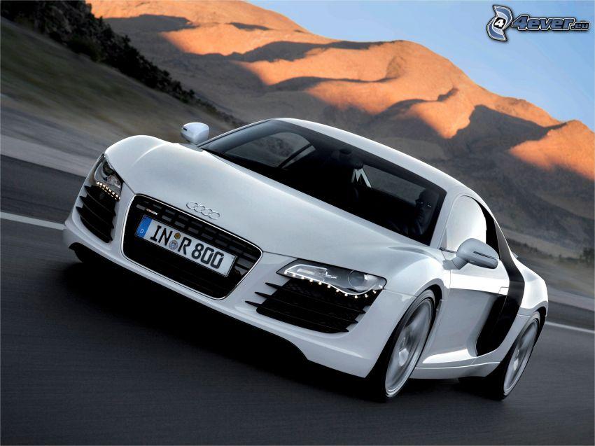 Audi R8, speed, hills