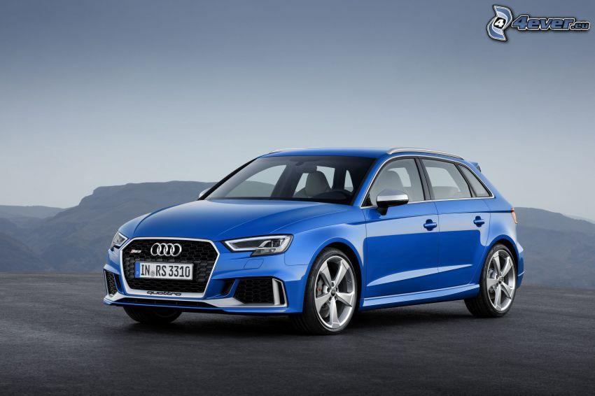 Audi RS3, mountain