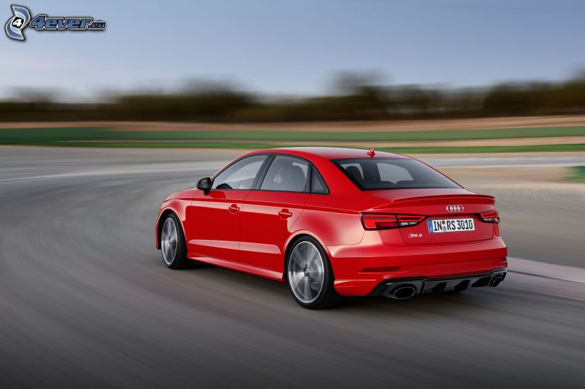 Audi RS3, speed, road curve